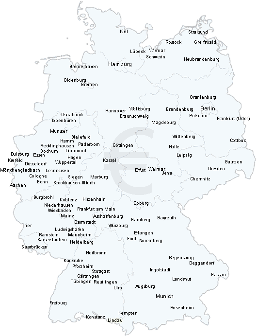 Germany TRUCK AND MAN Van Removals Europe Moving Company - Germany map ulm